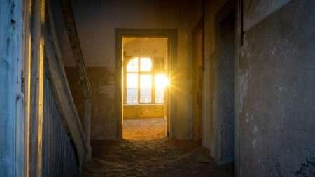 sunlight through doorway